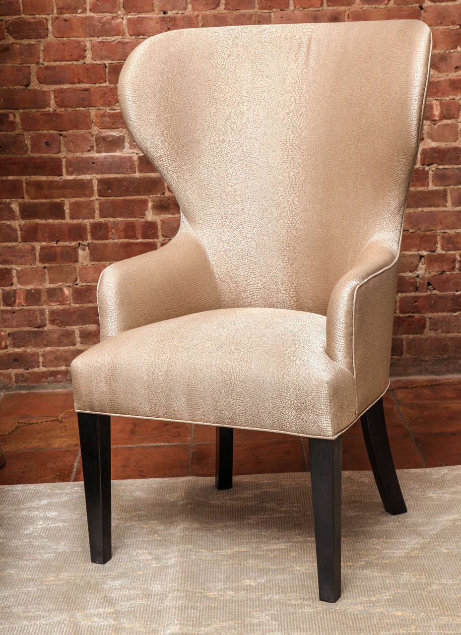 Neoclassical Revival Catherine Wingback Chair by Arlene Angard Collection For Sale