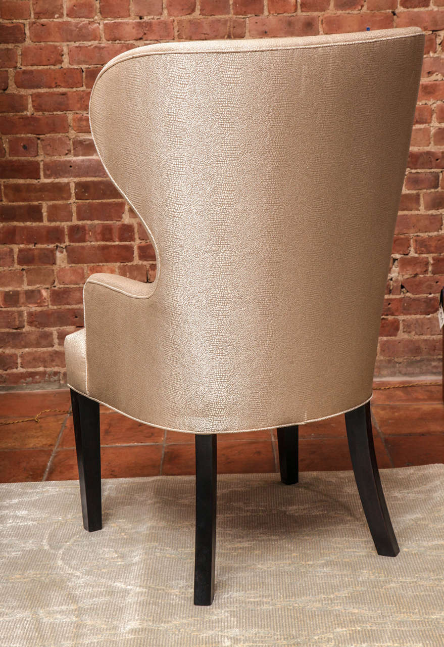 Catherine Wingback Chair by Arlene Angard Collection In Excellent Condition For Sale In New York, NY