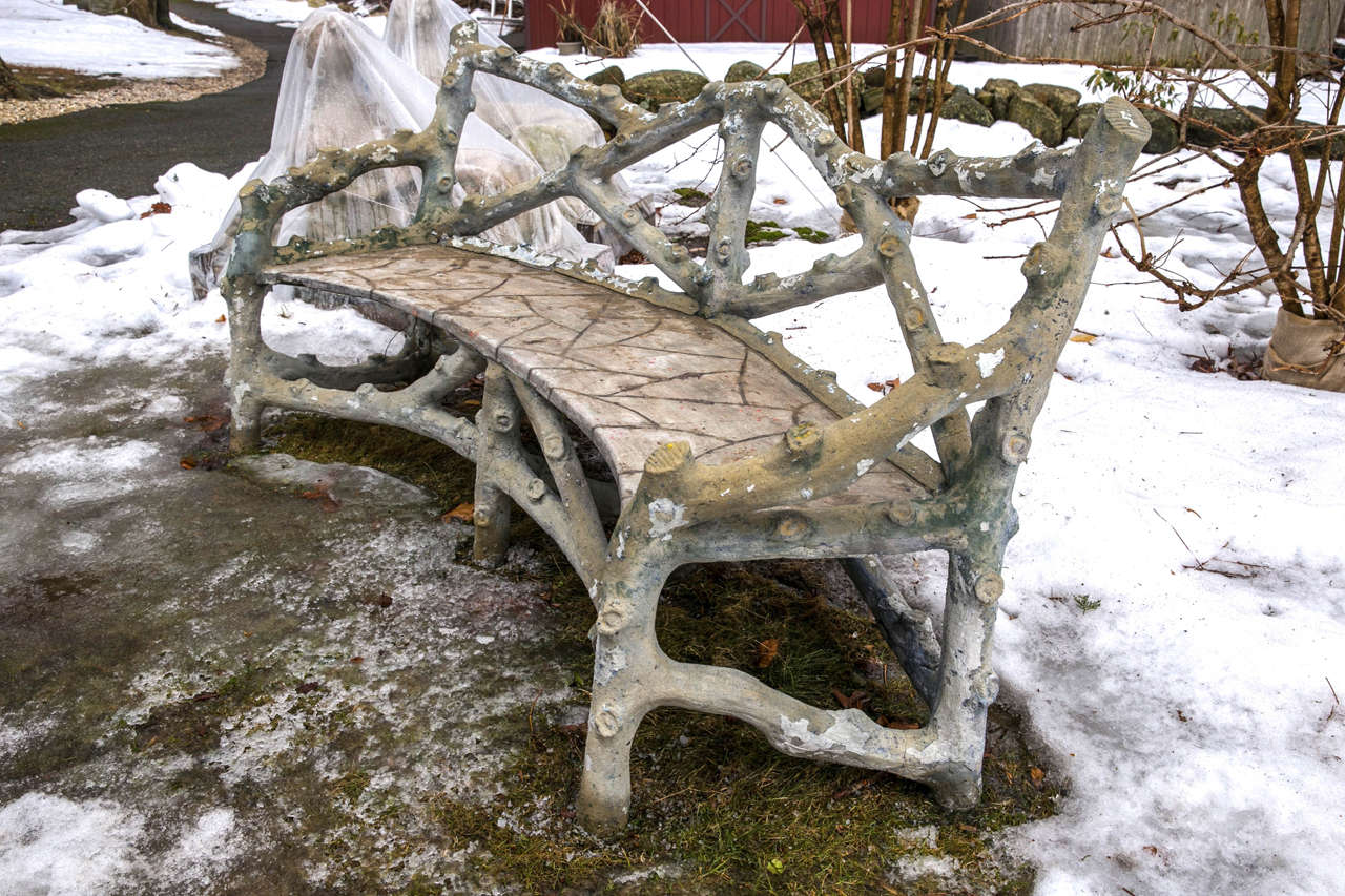 Faux Bois Naturalistic Bench At 1stdibs