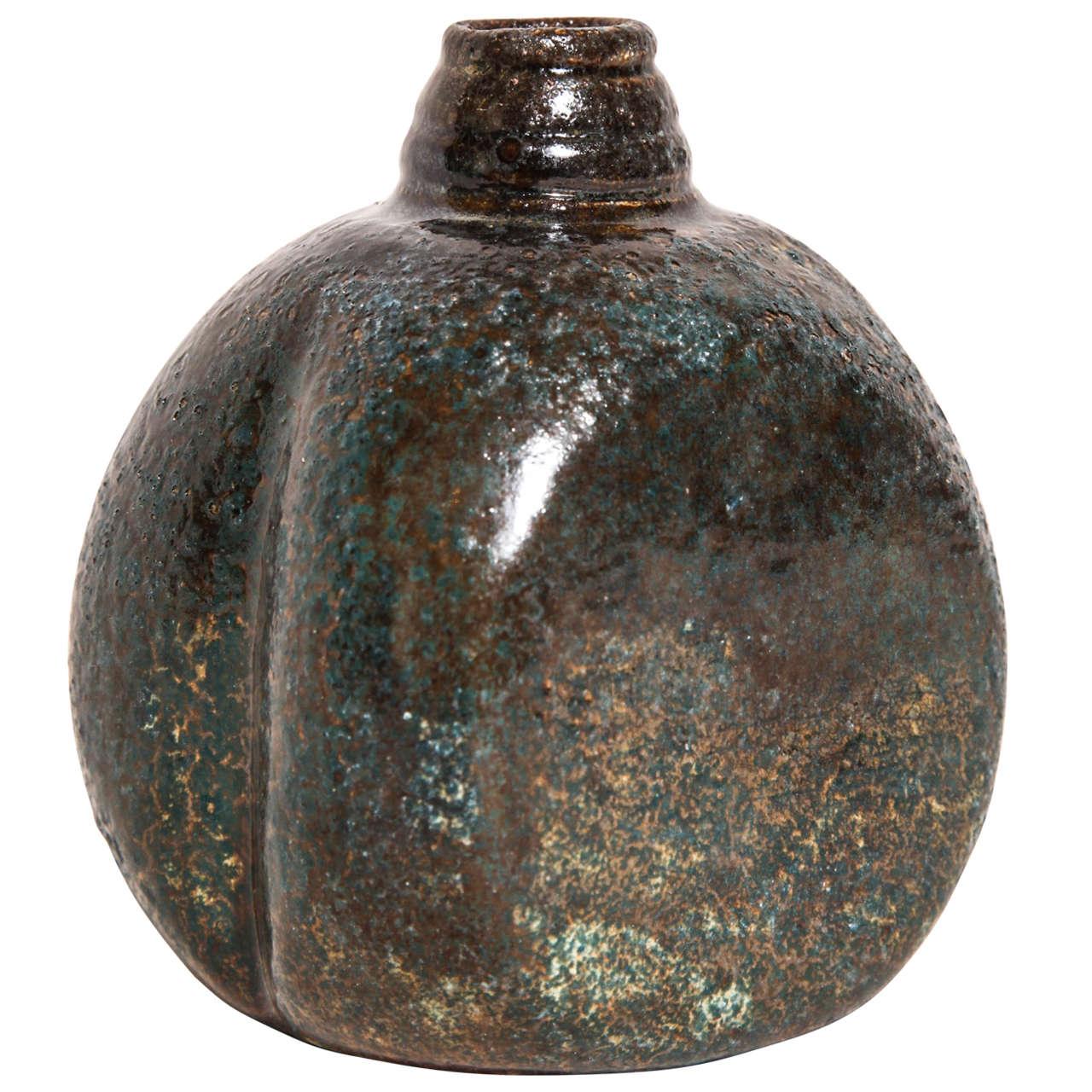 henri simmen french art deco stoneware vase for sale at. Black Bedroom Furniture Sets. Home Design Ideas