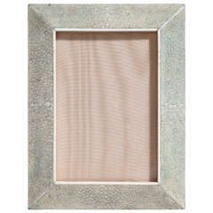 English Art Deco Shagreen Photograph Frame