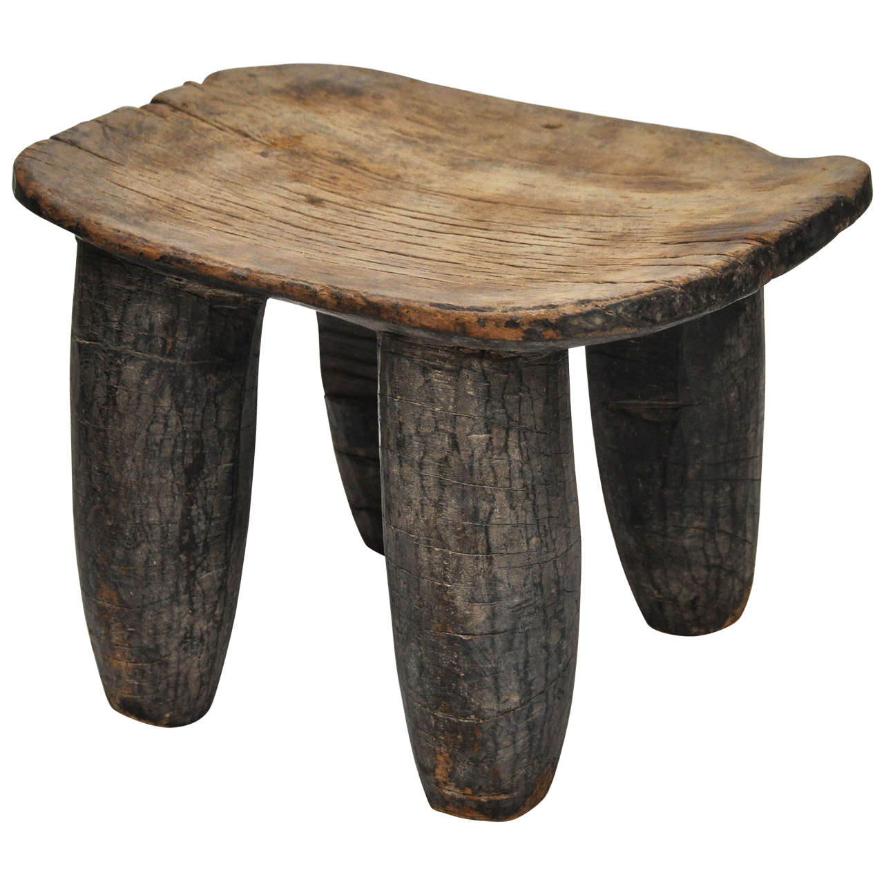 Four-Legged Senufo African Stool 1