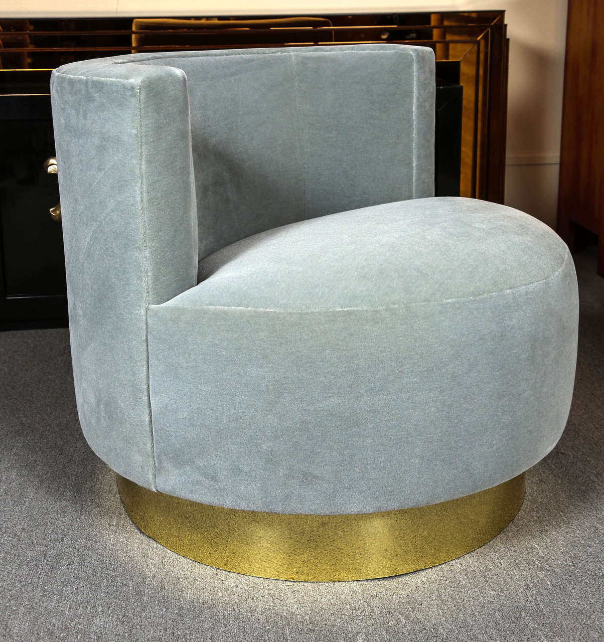 Pair of Swivel Chairs Designed by Steve Chase For Sale at