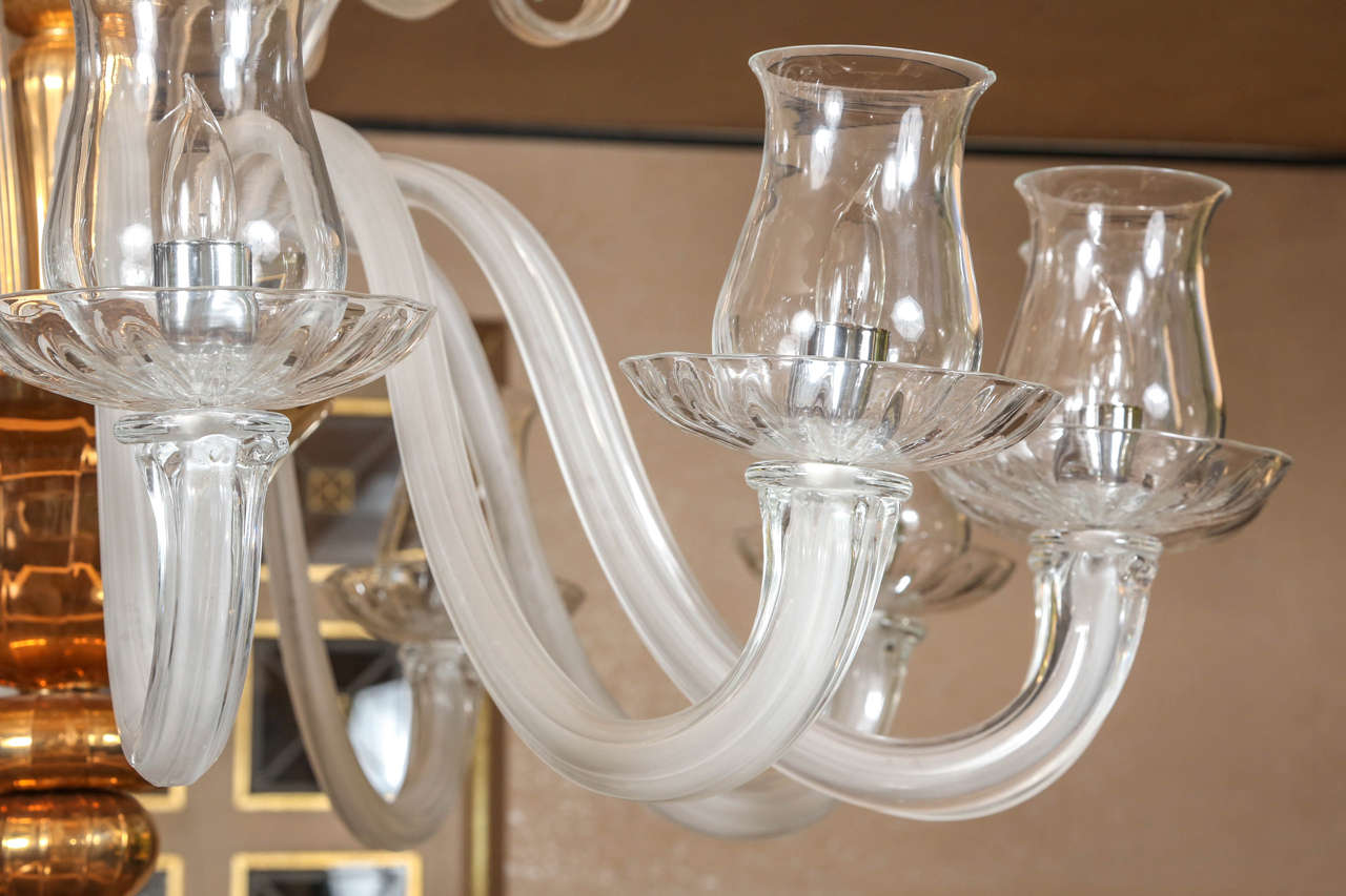 Grand Venetian Chandelier In Excellent Condition For Sale In New York, NY