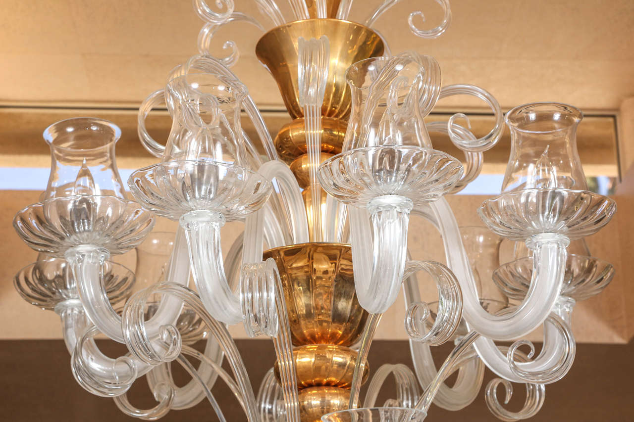 Late 20th Century Grand Venetian Chandelier For Sale