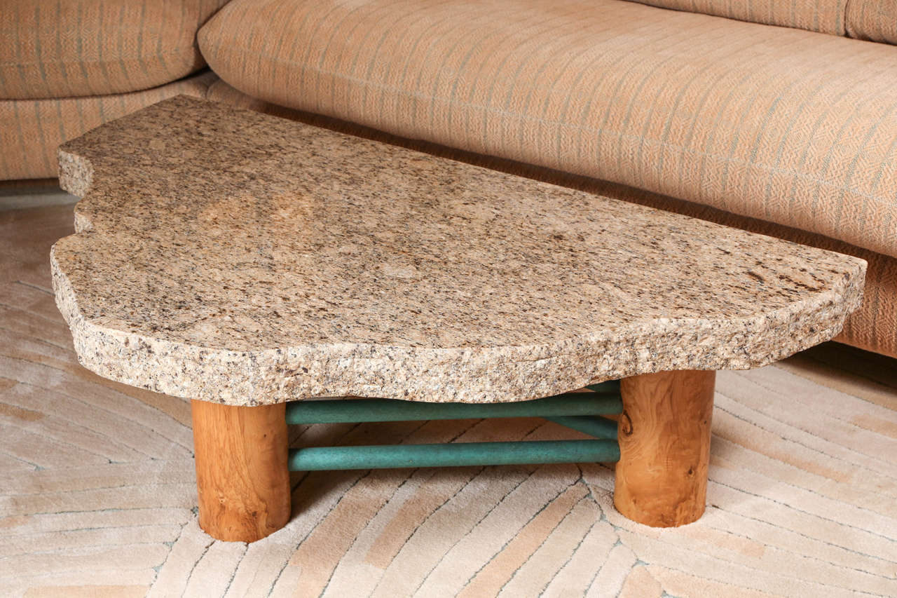Custom granite coffee table by steve chase at 1stdibs Granite coffee table