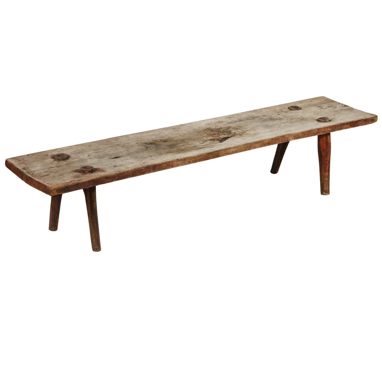 Primitive Farm Bench At 1stdibs