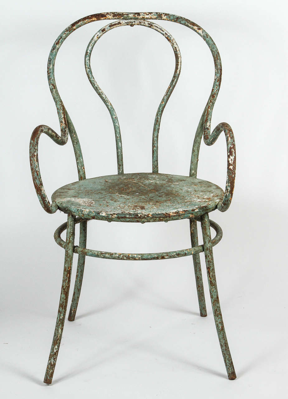 metal chair in the style of thonet at 1stdibs