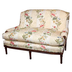 Wonderful Loveseat Newly Upholstered in Scalamandre Fabric