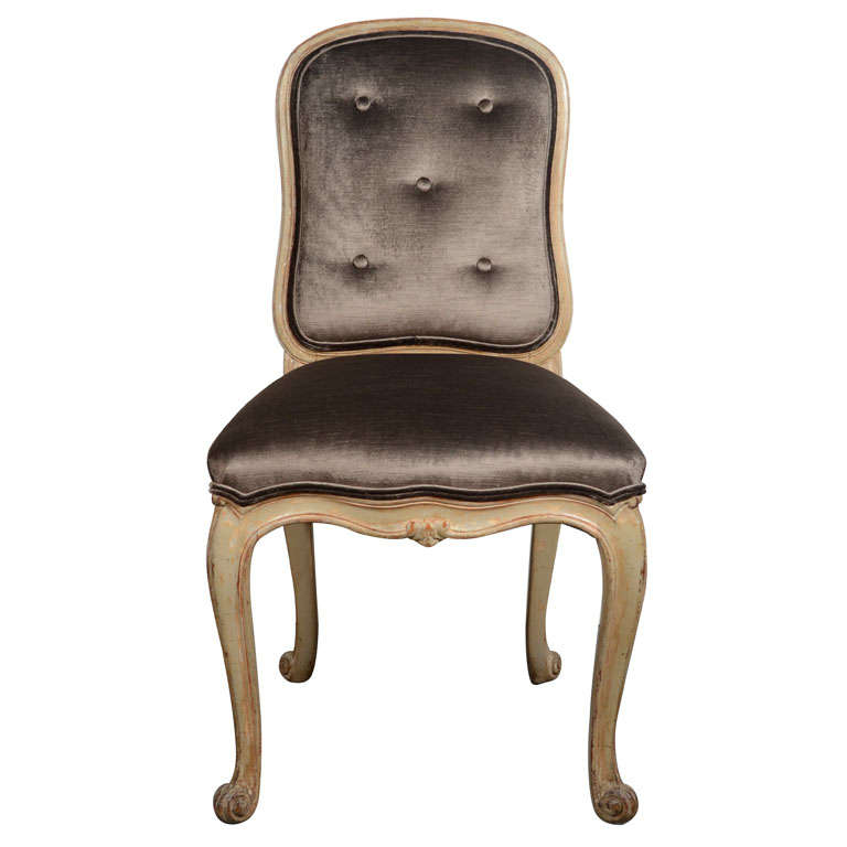 French Provincial Vanity Chair or Desk Chair in Sable Velvet at ...