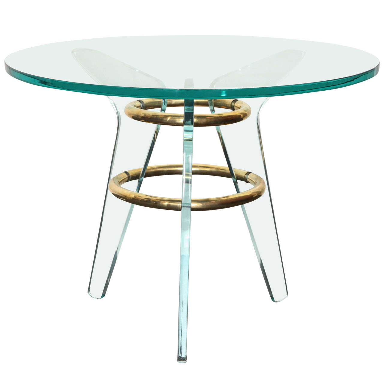 Glass Italian Table Made In 1940s At 1stdibs