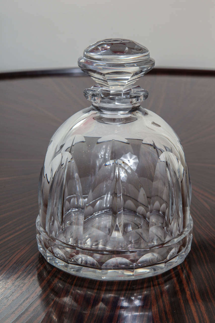 Sue Et Mare French Art Deco Crystal Decanter For Sale At