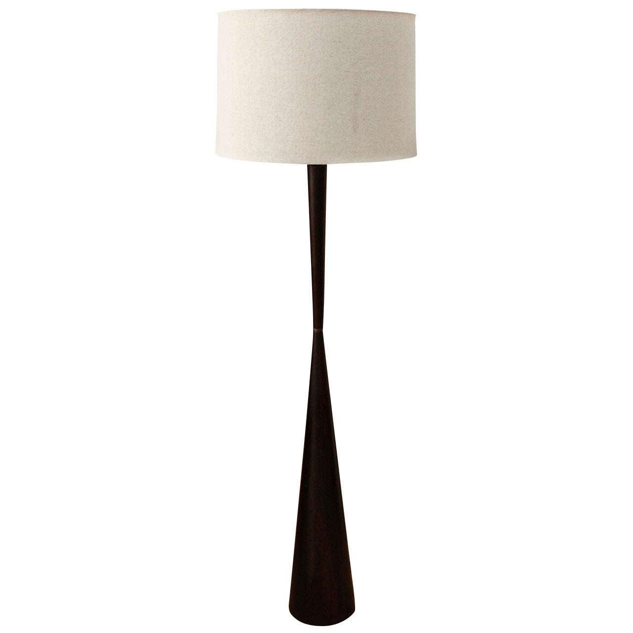 mid century teak floor lamp at 1stdibs. Black Bedroom Furniture Sets. Home Design Ideas