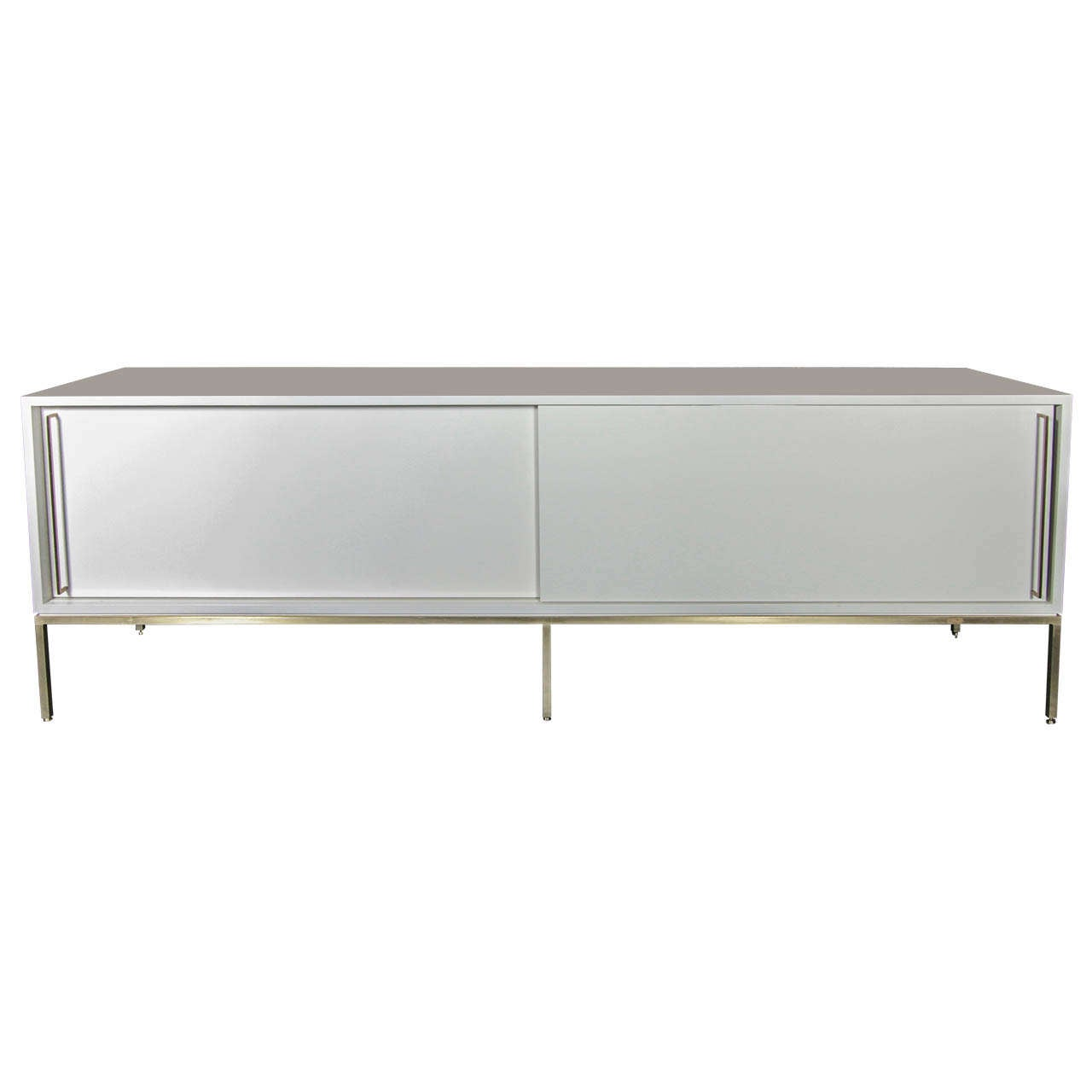 re: 379 credenza in high gloss soft chamois on satin brass frame