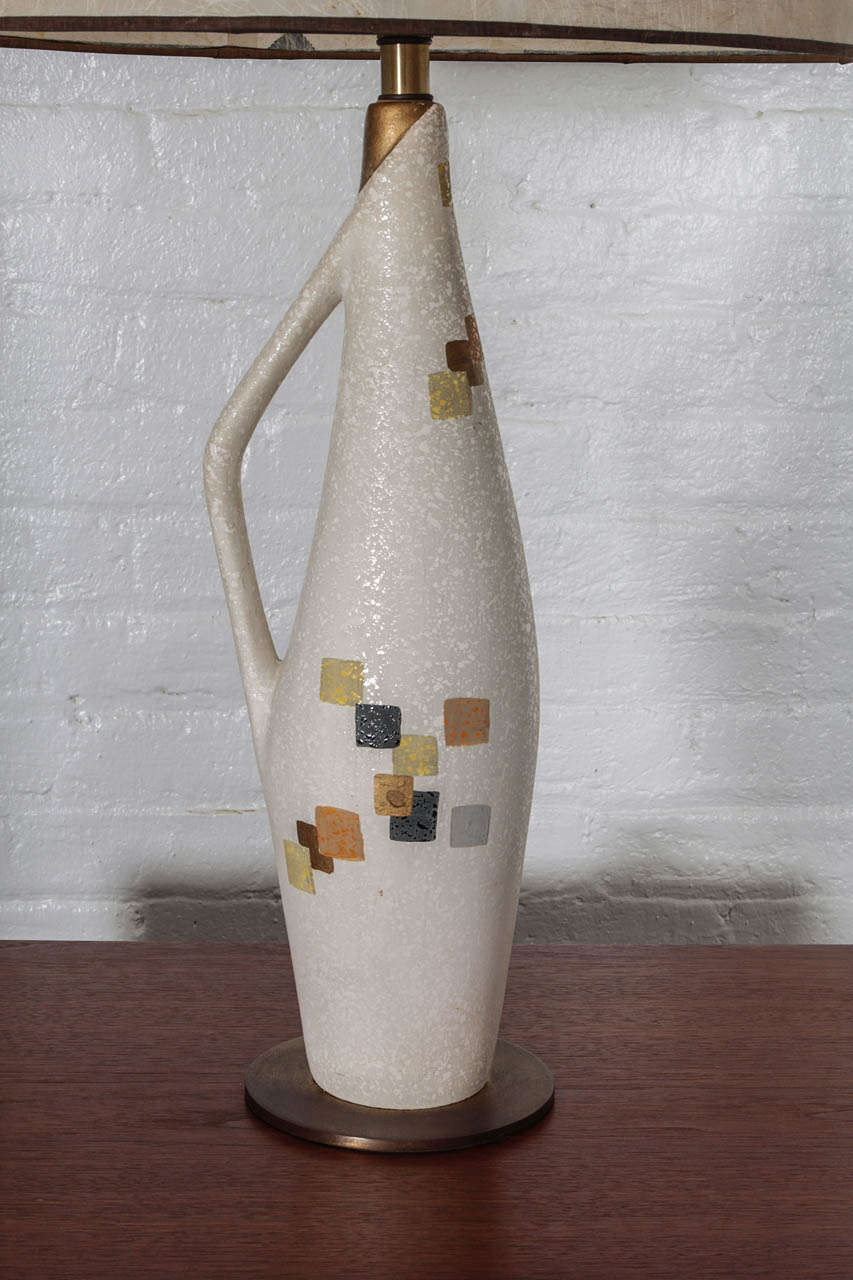 Mid-Century Modern Tye of California Ceramic Table Lamp For Sale