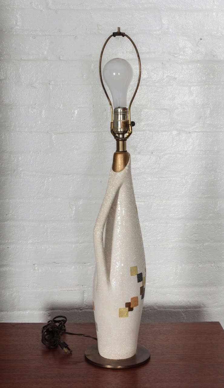 American Tye of California Ceramic Table Lamp For Sale
