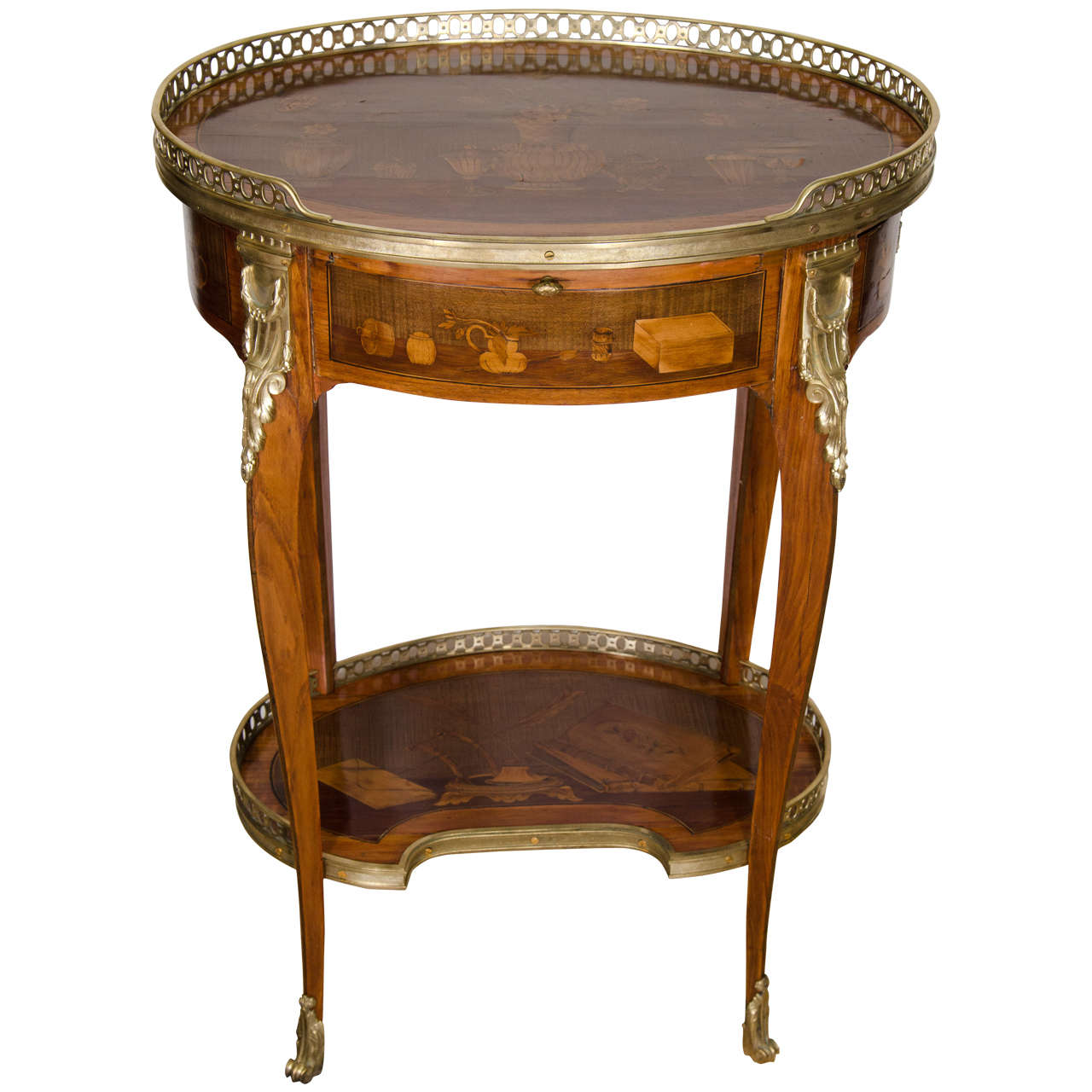 oval side table. Louis XV Oval Side Table For Sale