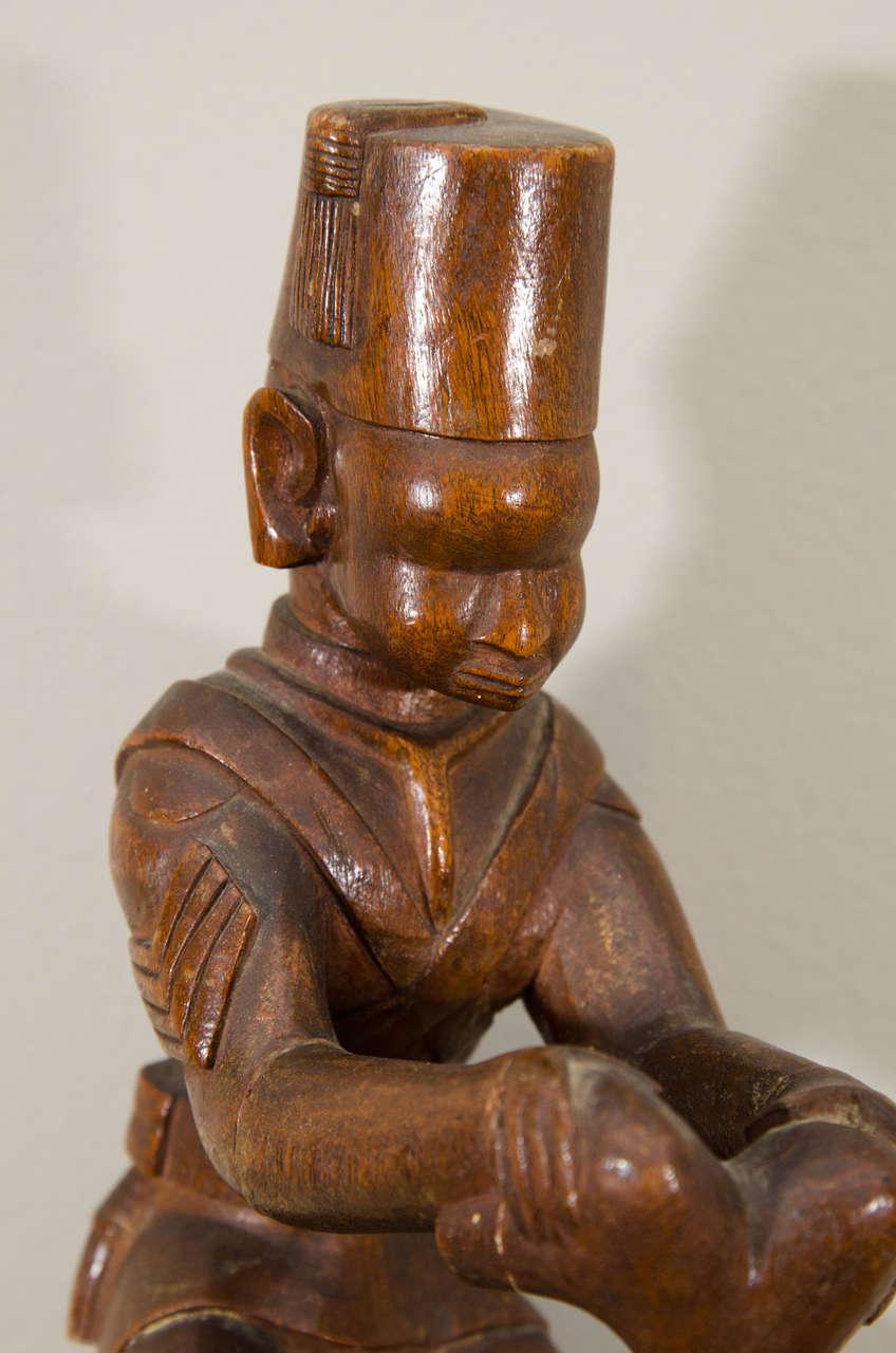 Folk Art 20th Century Kamba Tribal Colonial Carving, Kenya For Sale