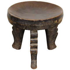 Early 20th Century Tribal Hehe Stool, Tanzania