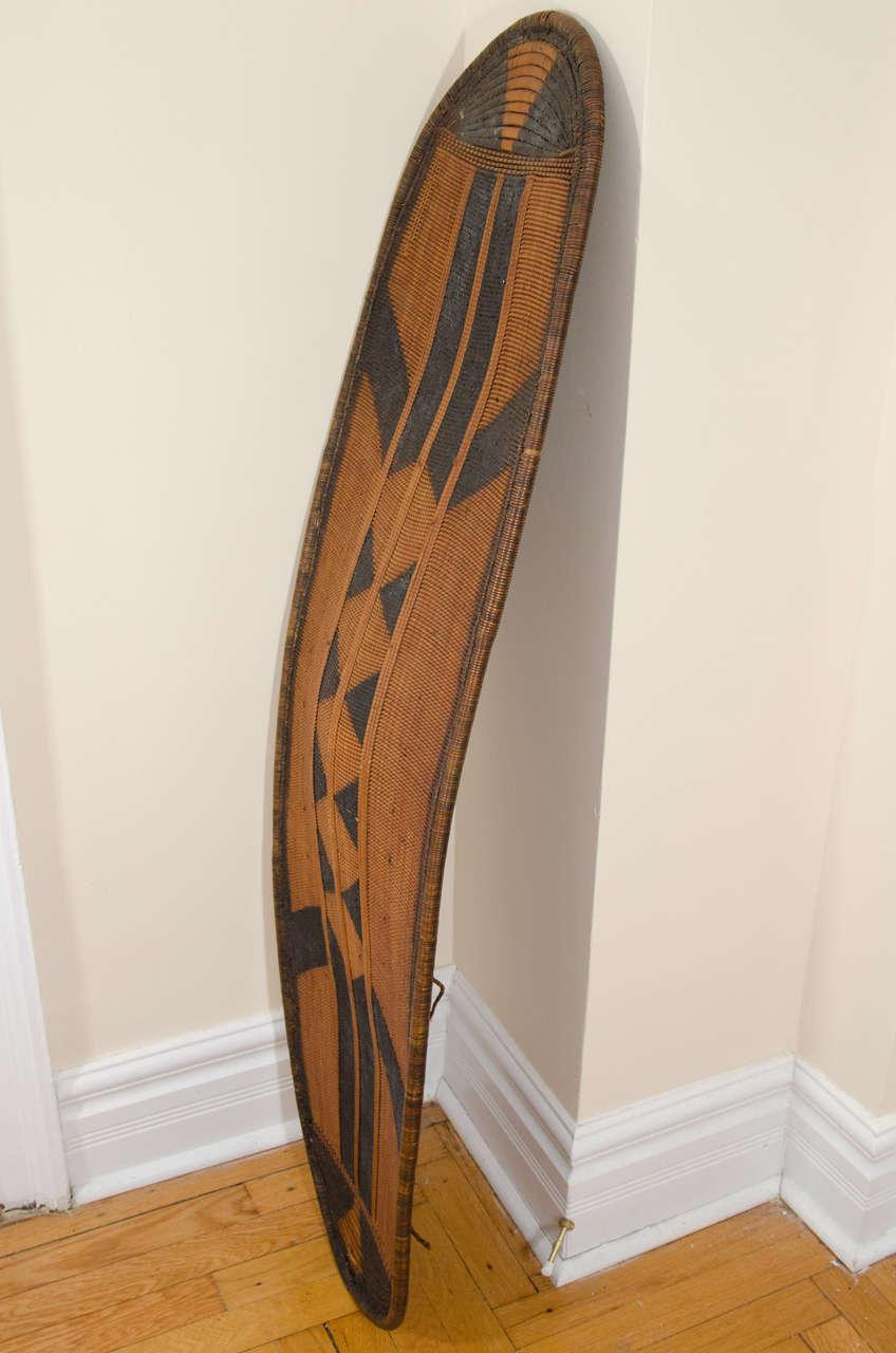 Early 20th Century African Poto Tribal Wicker Shield, Congo 2