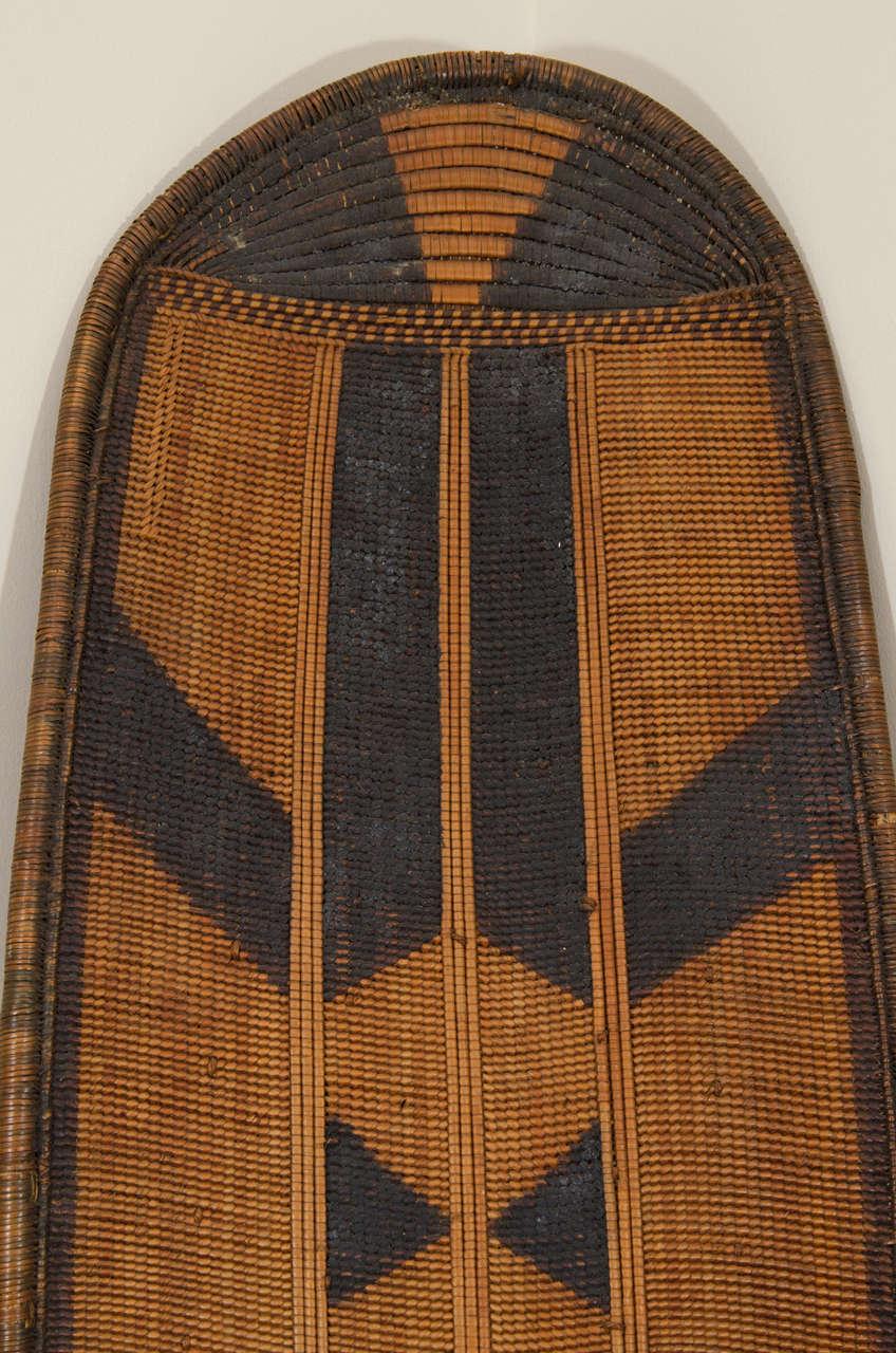 Early 20th Century African Poto Tribal Wicker Shield, Congo 4