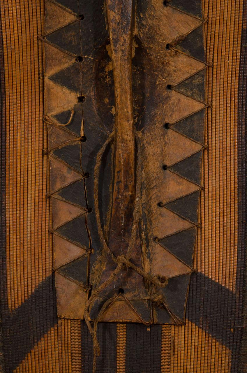 Early 20th Century African Poto Tribal Wicker Shield, Congo 8