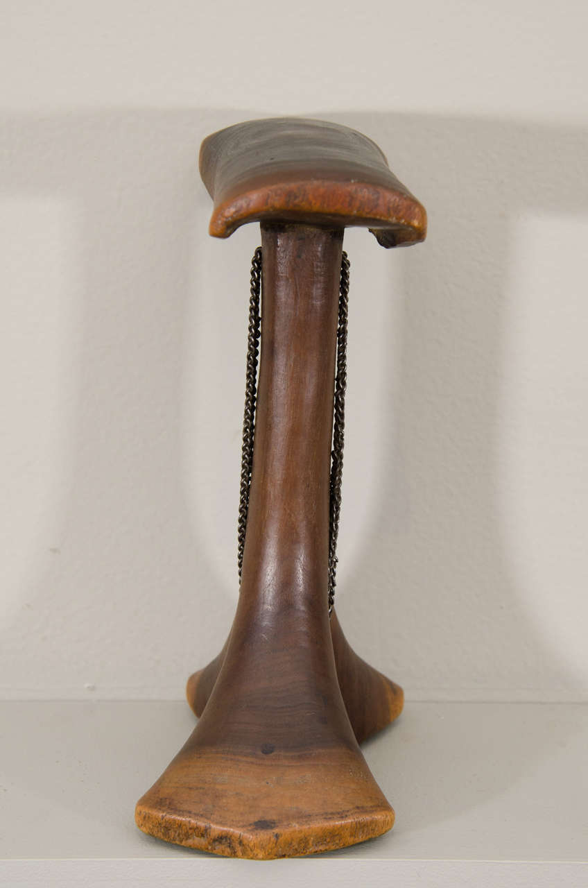 Early 20th Century Tribal Karamojong Wooden Neck Rest, Uganda For Sale 2