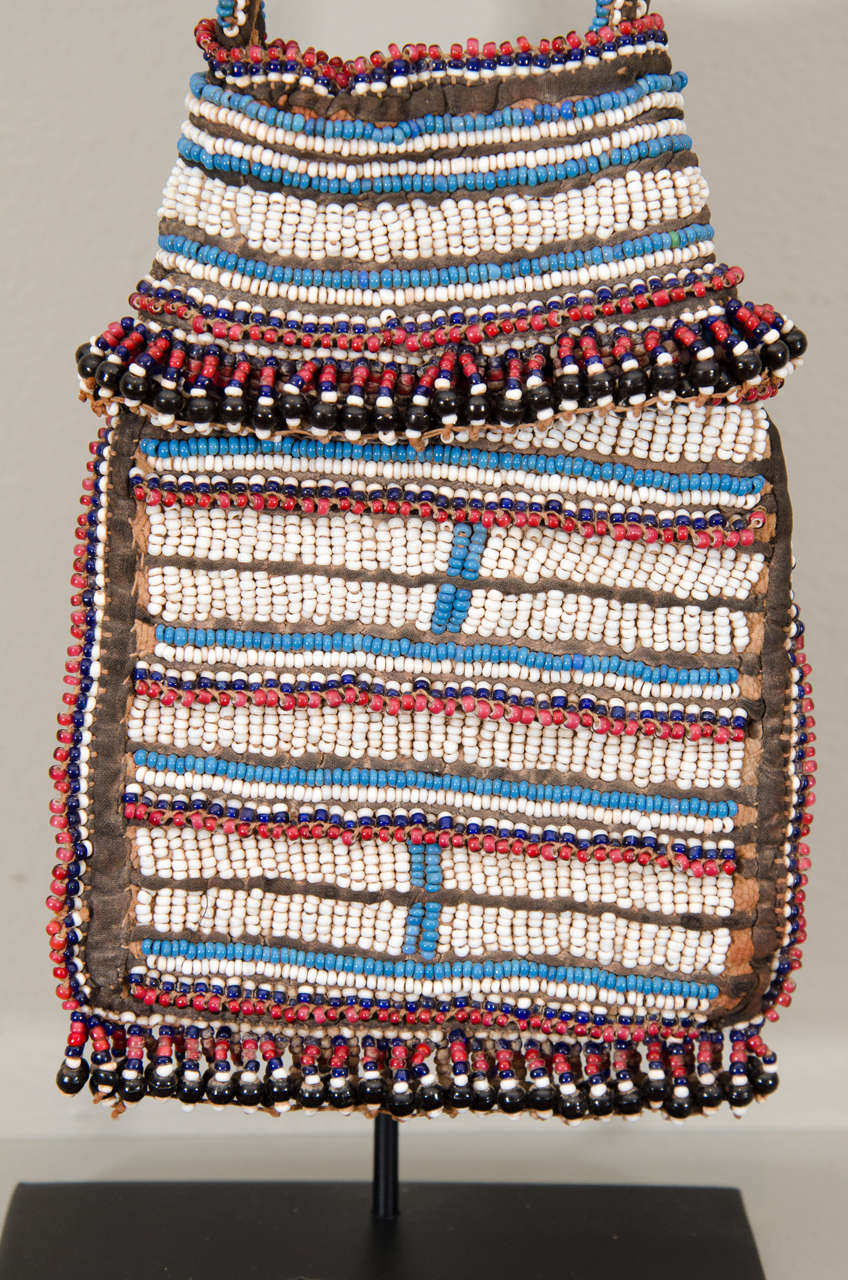 19th Century Tribal Beaded Tobacco Bag, South Africa 3