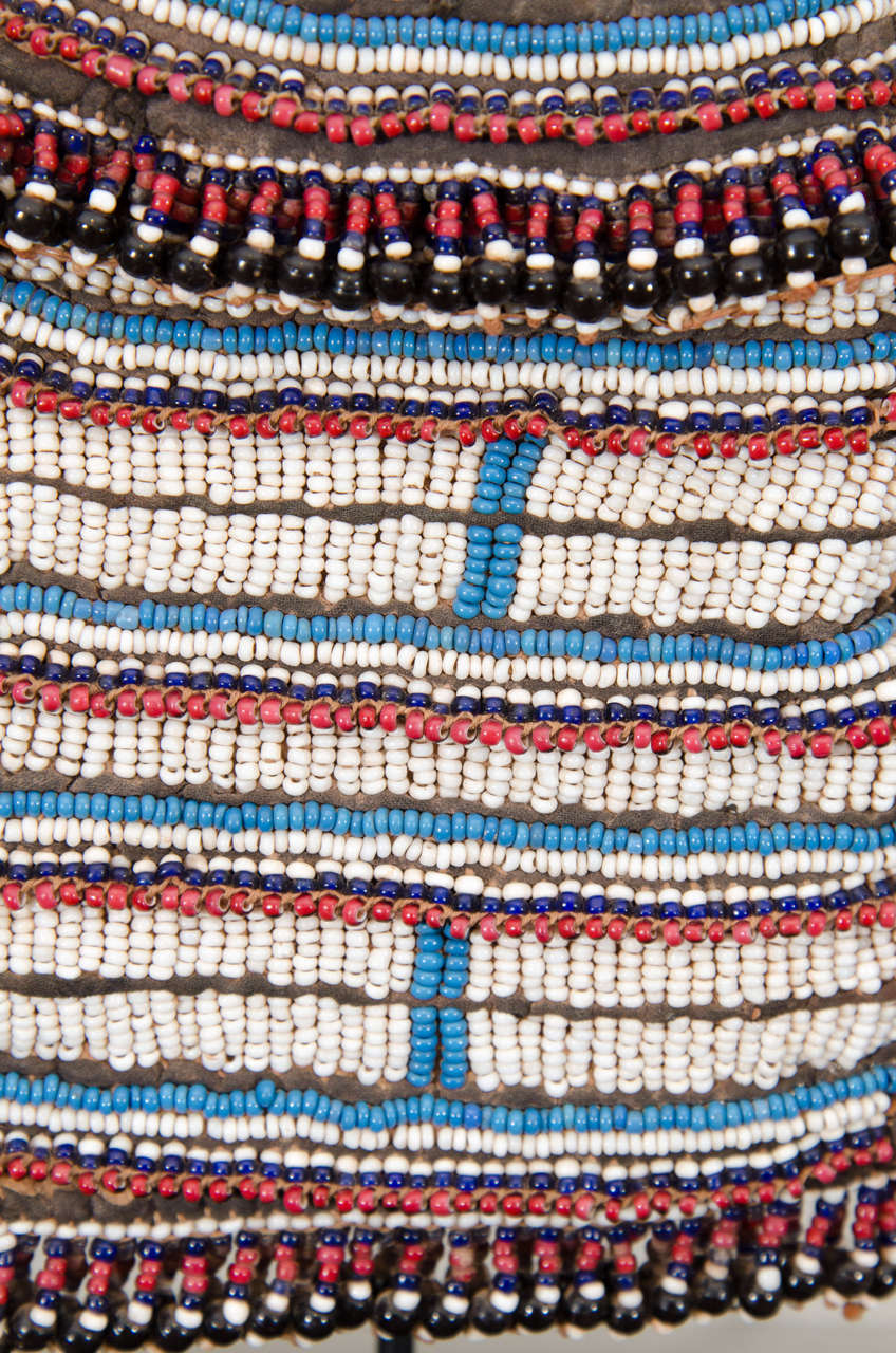 19th Century Tribal Beaded Tobacco Bag, South Africa 5