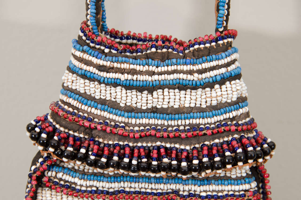 19th Century Tribal Beaded Tobacco Bag, South Africa 6