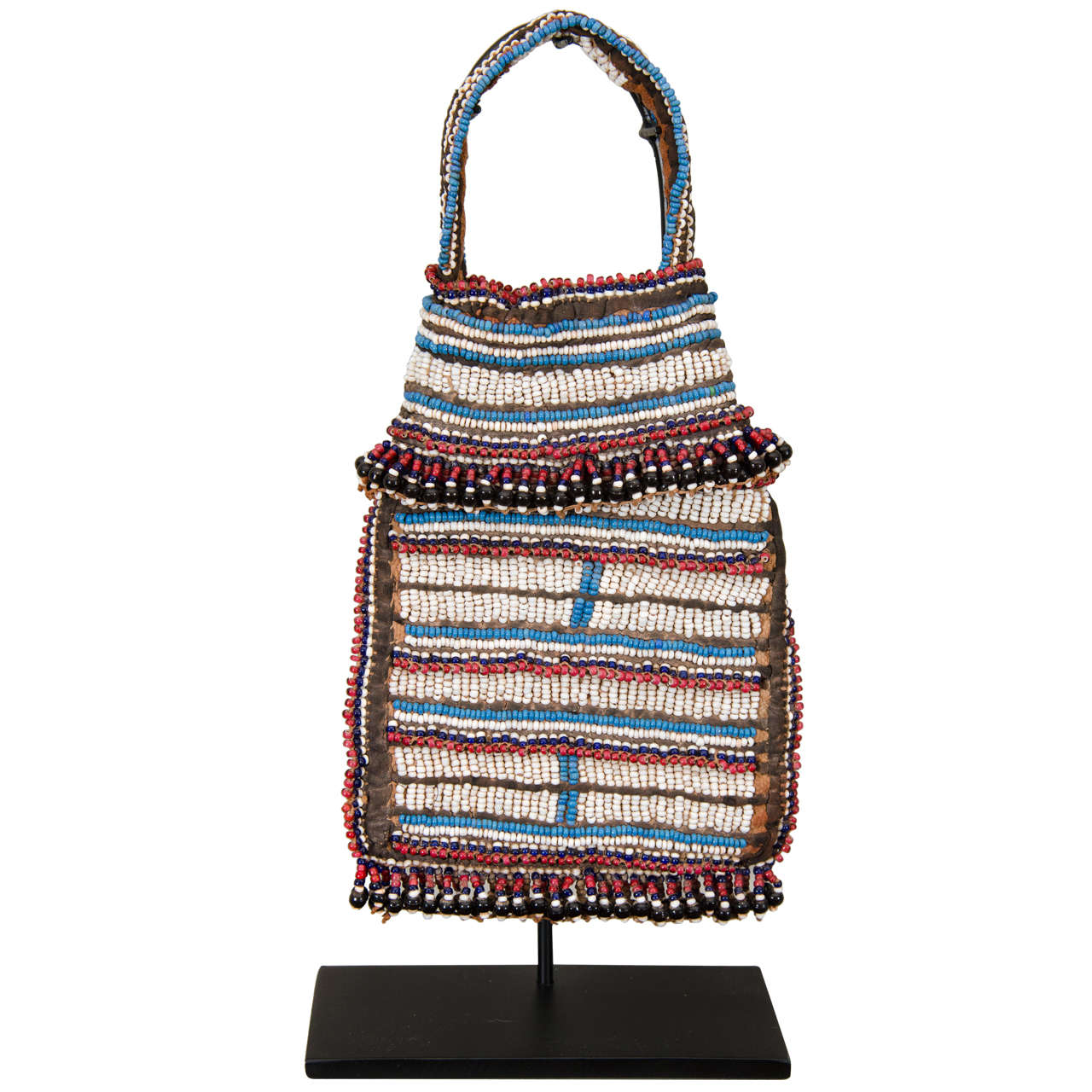19th Century Tribal Beaded Tobacco Bag, South Africa 1