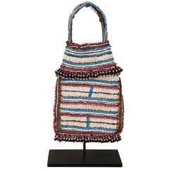 19th Century Tribal Beaded Tobacco Bag, South Africa
