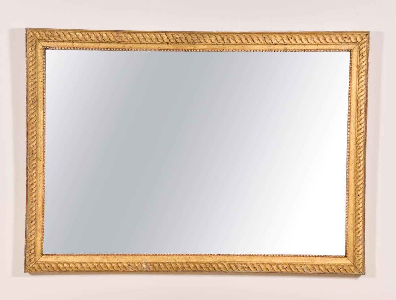 Very nice Louis XVI mirror, nice carving and gilding. The mirror is original.