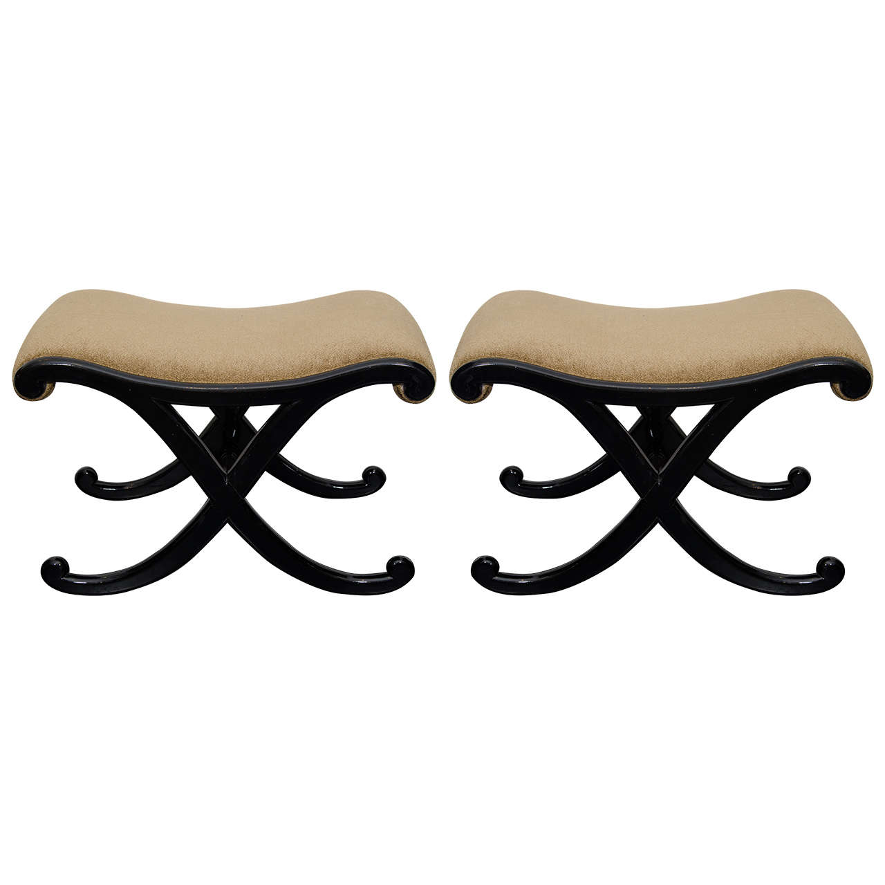 Ebony Lacquered Benches