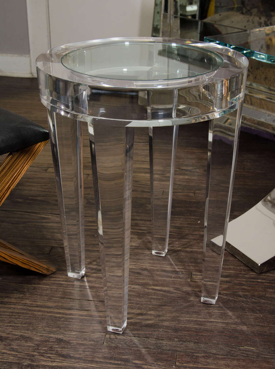 Round Acrylic Occasional Table At 1stdibs