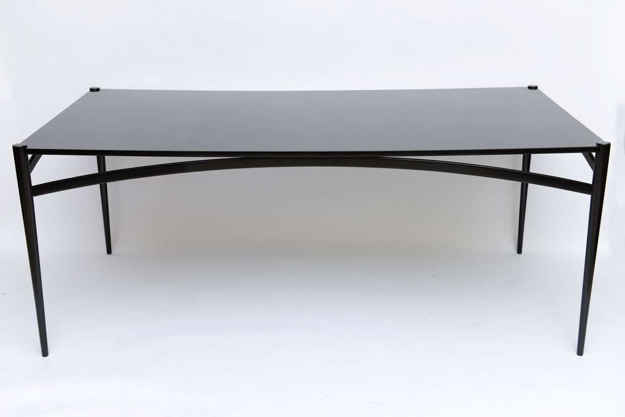 fine figli di sanguineti modern black lacquer dining table at 1stdibs