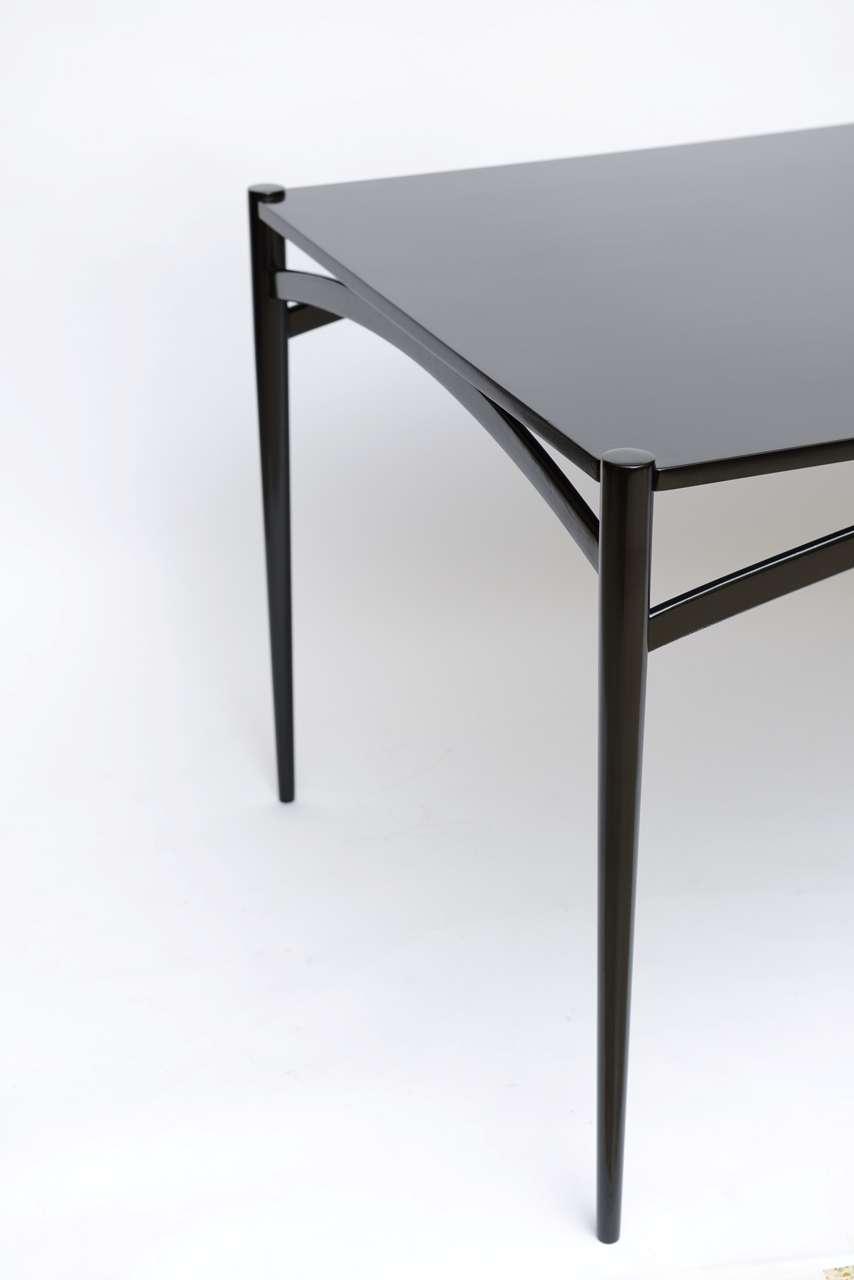 fine figli di sanguineti modern black lacquer dining table at 1stdibs