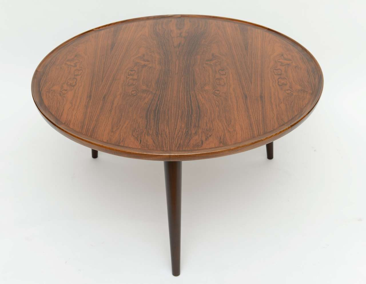 Stellar Circular Brazilian Rosewood Coffee Cocktail Table At 1stdibs