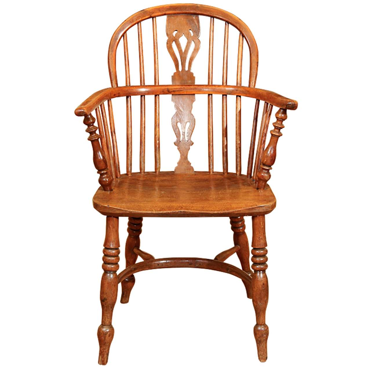 One Armed Windsor Accent Chair: English Low Back Windsor Arm Chair At 1stdibs