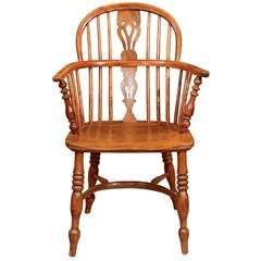 English Low Back Windsor Arm Chair