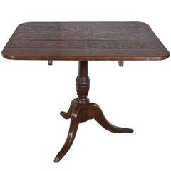 19th Century English Oak Rectangular Tilt-Top Table