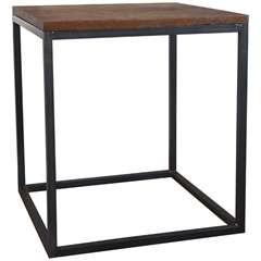 Antique Teak Top Side Table
