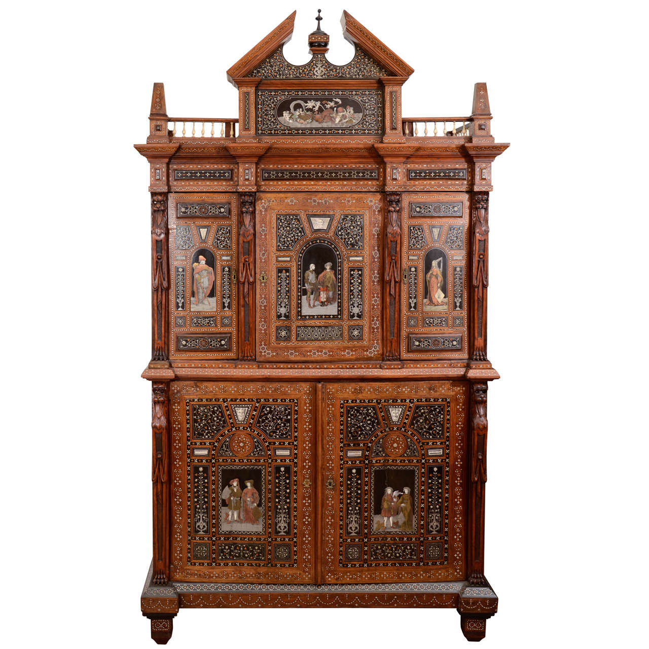 19th Century Syrian Cabinet with Inlays