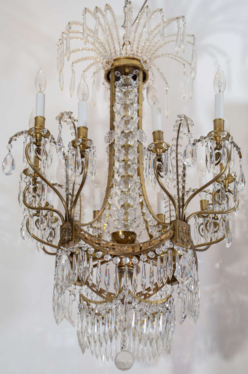 Russian Crystal And Doré Bronze Chandelier From The Plaza Hotel New York Ny