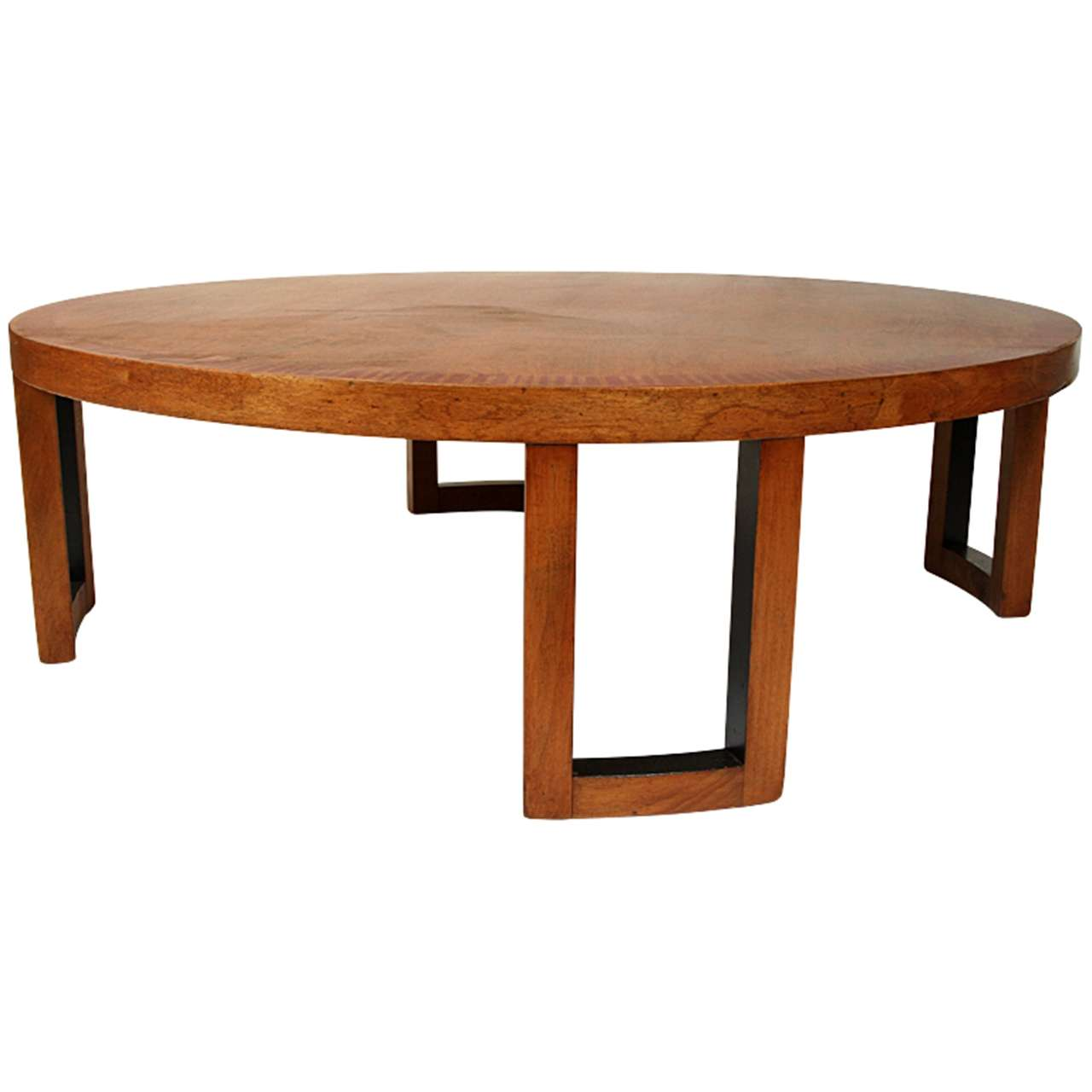 Van Keppel And Green Round Coffee Table At 1stdibs