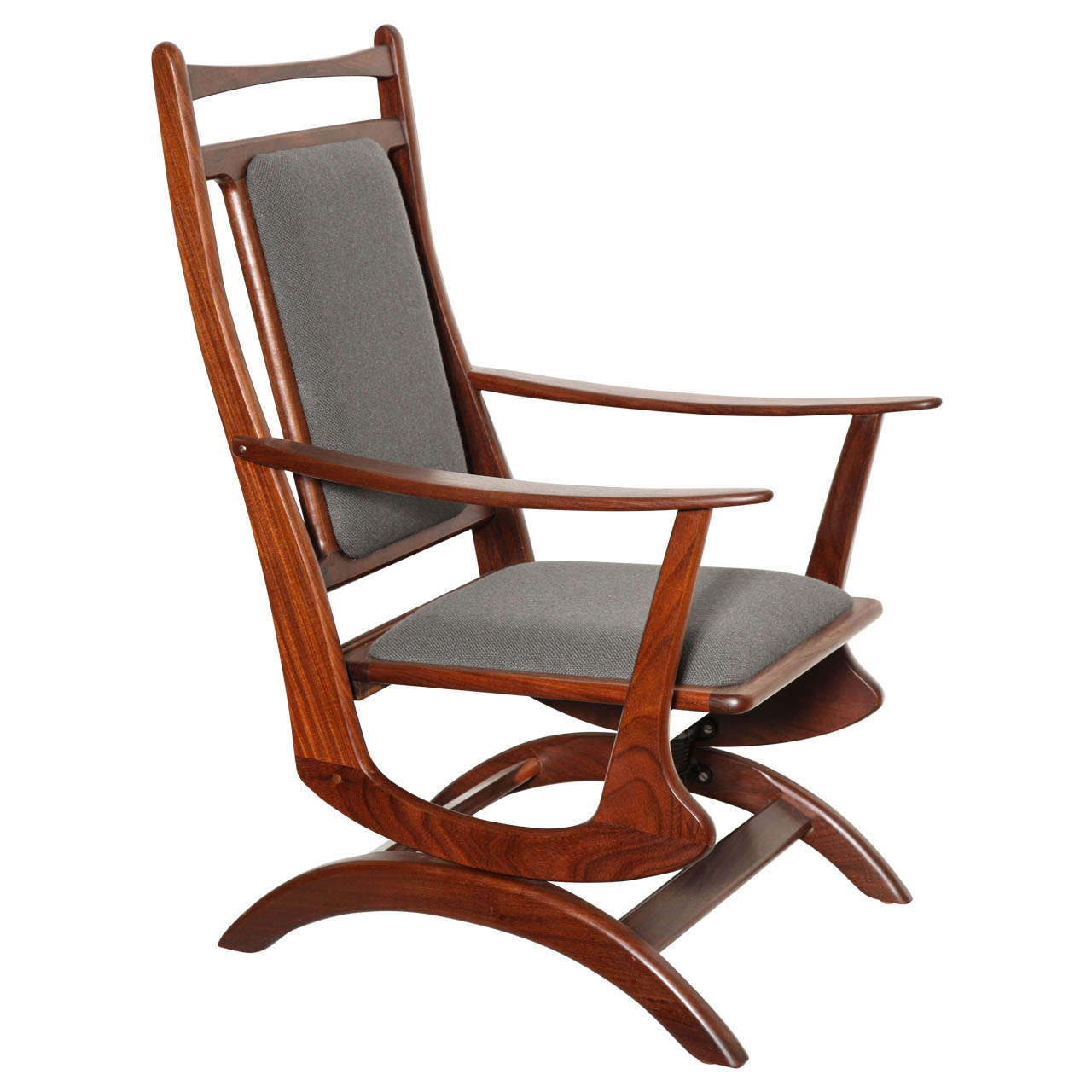 Danish vintage rocking chair at 1stdibs for Rocking chair
