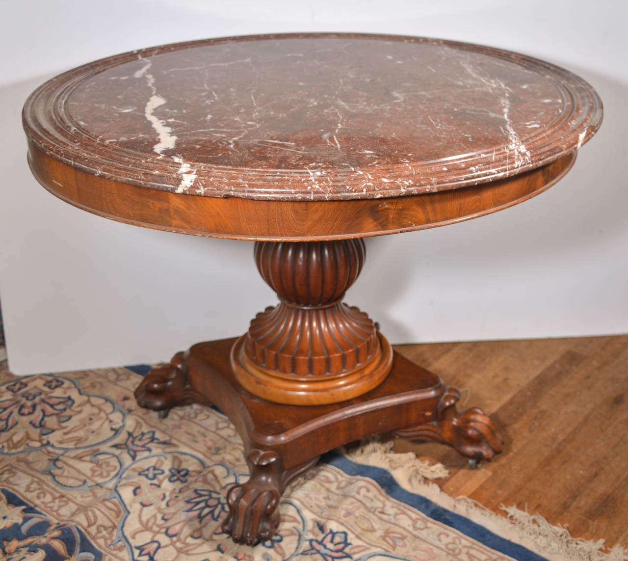 King louis philippe period marble top center table for for Table louis philippe