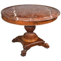 King Louis Philippe Period Marble-Top Center Table