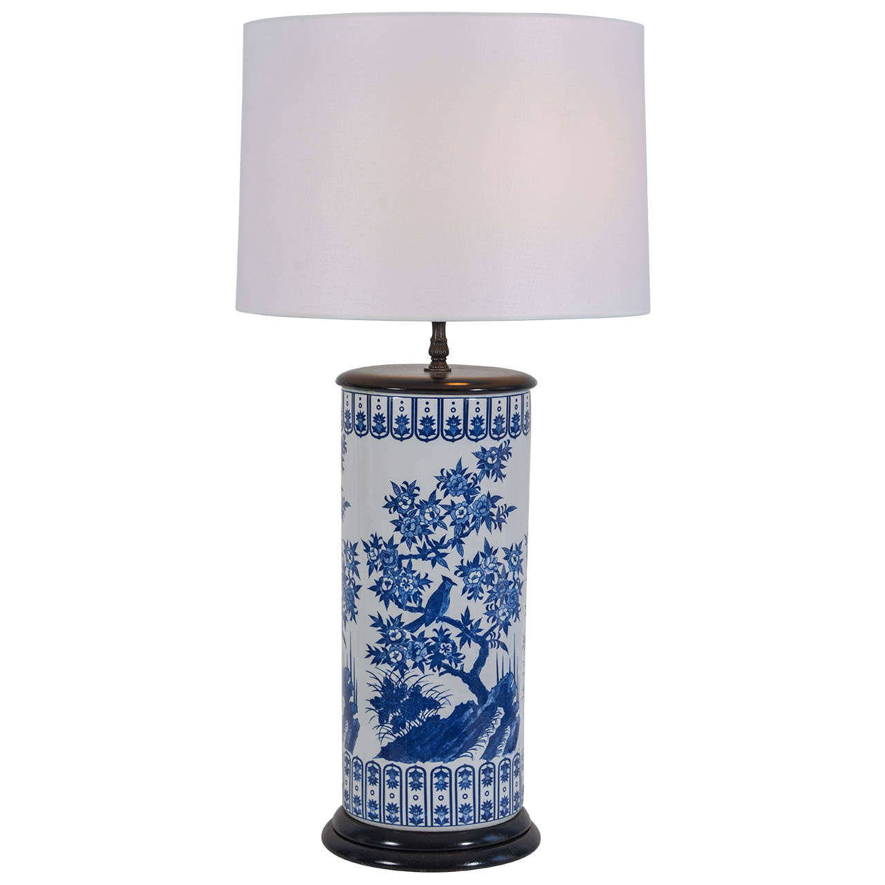 Asian Umbrella Stand Lamp For Sale