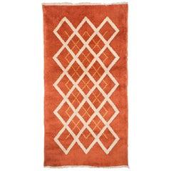 Antique French Geometric Art Deco Rug